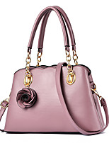 cheap -Women's Bags PU Leather Top Handle Bag Zipper Flower for Daily / Date Black / Purple / Red / Dark Gray
