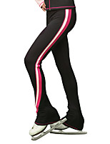 cheap -Figure Skating Pants Women's Girls' Ice Skating Pants / Trousers Black Spandex Stretchy Training Skating Wear Thermal Warm Handmade Patchwork Classic Ice Skating Winter Sports Figure Skating / Kids