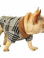 cheap -dog jacket classic black and white houndstooth dog coat warm and soft pet clothes outwear apparel for small dog