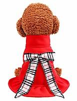 cheap -wakeu christmas dog dress pullover dog sweater clothes holiday pet clothing autumn winter coat lovely princess bow sweatshirt for small dog cat dachshund chihuahua corgi shih tzu
