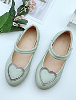 cheap -Girls' Flats Princess Shoes PU Little Kids(4-7ys) Walking Shoes Almond / Pink / Green Spring / Fall