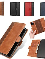 cheap -Case For Apple iPhone 12 Wallet Card Holder with Stand Full Body Cases Solid Colored PU Leather iPhone SE 2020 11 Pro Max iPhone XS Max XR 7 8 Plus 6s 6 Plus