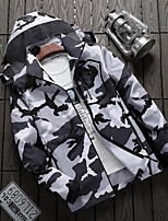 cheap -Men's Hiking Windbreaker Outdoor Camo Thermal Warm Waterproof Windproof Breathable Top Hunting Fishing Climbing Dark Grey / White / Black / Camouflage / Blue / Solid Color / Camping / Hiking / Caving