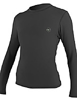 cheap -o'neill women's basic 30+ long sleeve sun shirt, black, m