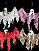 cheap -Halloween Party Toys Pendant Halloween Hanging Ghost Mini Skull Skeleton Ghost Plastic Kid's Adults Trick or Treat Halloween Party Favors Supplies