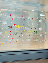 cheap -Christmas Wall Stickers Decorative Wall Stickers, PVC Home Decoration Wall Decal Wall Decoration / Removable
