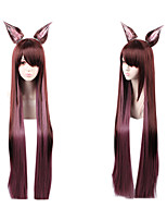 cheap -Cosplay Cosplay Cosplay Wigs Women's Side bangs 100 inch Heat Resistant Fiber Matte Gradient Adults' Anime Wig