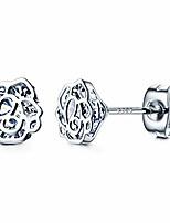 cheap -14k gold plated rose flower stud earrings for women 925 sterling silver posts cubic zirconia earring cute earrings hypoallergenic fashion gifts for girls