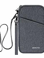 cheap -arvok travel wallet, rfid blocking family passport holder with removable wrist strap & neck strap, water-resistant ticket document organizer bag, zipper case pouch for women & men (grey)