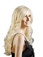 cheap -Synthetic Wig Loose Curl Asymmetrical Wig Very Long White Synthetic Hair 28 inch Women's Classic Exquisite Romantic White