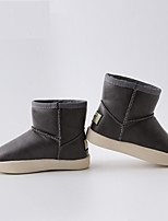 cheap -Boys' / Girls' Boots Snow Boots Cowhide Little Kids(4-7ys) Walking Shoes Black / Gray Fall / Winter