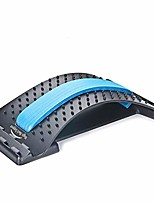 cheap -back stretching device,back massager for bed & chair & car,multi-level lumbar support stretcher spinal, lower and upper muscle pain relief(black/blue)