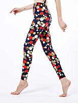 cheap -Women's Sporty Yoga Daily Skinny Leggings Pants Dot Comfort High Waist Black One-Size