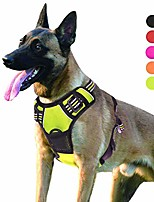 cheap -dog harness no pull escape proof adjustable outdoor pet vest reflective oxford material easy control vest harness for small medium large dogs