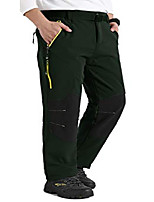 cheap -men's outdoor windproof hiking pants waterproof ski pants medium black(02f/l34)