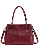 cheap -Women's Bags PU Leather Top Handle Bag Zipper for Daily / Date Maroon / Black / Blue / Purple