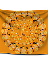 cheap -Wall Tapestry Art Decor Blanket Curtain Picnic Tablecloth Hanging Home Bedroom Living Room Dorm Decoration Polyester Bohemia Mandala Gold View