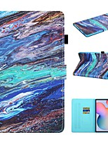 cheap -Case For Samsung Galaxy  Tab A 10.1 2019 T510 T515 Tab A 8.0 2019 T290 295 Tab S6 Lite SM-P610 615 Wallet Card Holder with Stand Full Body Cases Marble PU Leather