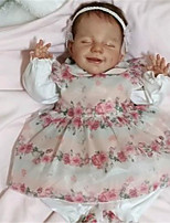 cheap -20 inch Reborn Doll Baby & Toddler Toy Reborn Baby Doll April Newborn lifelike Hand Made Simulation Floppy Head Cloth Silicone Vinyl with Clothes and Accessories for Girls' Birthday and Festival Gifts