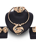 cheap -Women's Bridal Jewelry Sets Simple Basic Elegant Earrings Jewelry Gold For Wedding Engagement 1 set