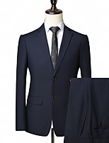 cheap -Tuxedos Tailored Fit Notch Single Breasted Two-buttons Polyester Solid Colored