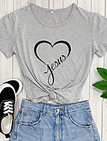 cheap -jesus letter printed t shirt women love jesus christian graphic t-shirt tees top & #40;small, navy1& #41;