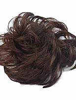 cheap -hairpieces short curly hair extension messy hair bun updo extensions hair chignons hair piece wig scrunchy bridal drawstring-dark auburn 33