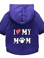 cheap -puppy hoodie sweater dog coat warm sweatshirt love my mom printed shirt (m, purple)