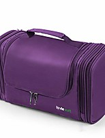 cheap -lavievert toiletry bag/makeup organizer/cosmetic bag/portable travel kit organizer/household storage pack/bathroom storage with hanging for business, vacation, household - purple