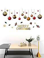 cheap -Christmas Balls Wall Stickers Decorative Wall Stickers, PVC Home Decoration Wall Decal Wall Decoration / Removable