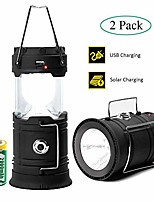 cheap -camping lantern led, camping lights and lanterns 2 pack, solar lantern rechargeable battery operated for camp, camping lamp ipx4 water resistant, emergency light for hurricane