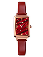 cheap -SKMEI Women's Quartz Watches Quartz Formal Style Modern Style Elegant Water Resistant / Waterproof Analog Black Red Gold / One Year / Genuine Leather / Shock Resistant / Genuine Leather / One Year