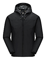cheap -Men's Hiking Jacket Winter Outdoor Solid Color Thermal Warm Waterproof Windproof Breathable Jacket Full Length Hidden Zipper Climbing Camping / Hiking / Caving Traveling Black / Red / Army Green