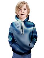 cheap -Kids Boys' Basic 3D Tie Dye Long Sleeve Hoodie & Sweatshirt Blue