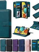 cheap -Case For For Samsung Galaxy Note 20 Ultra A51 71 5G A21S A10E A20E A30 A40 A50 A70 A31 A41 M51 M31 Wallet Card Holder with Stand Full Body Cases Solid Colored PU Leather