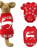 cheap -dog christmas red elk sweater pet reindeer cotton warm winter hoodies for small to large dogs (xxl)