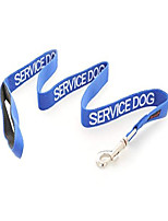 cheap -service dog blue 2ft 4ft 6ft padded dog leash prevents accidents by warning others of your dog in advance