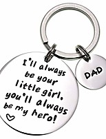 cheap -i'll always be your little girl.you will always be my hero keychain, stainless steel (white)