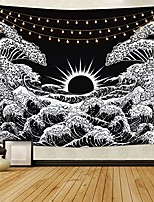 cheap -great wave tapestry sunset tapestry ocean wave tapestry black and white tapestry wall hanging for room& #40;51.2 x 59.1 inches& #41;