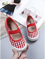cheap -Girls' Flats Princess Shoes Canvas Little Kids(4-7ys) Walking Shoes Black / Red Spring
