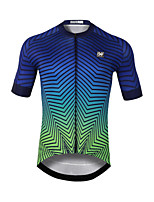 cheap -CAWANFLY Men's Short Sleeve Cycling Jersey Mineral Green Bike Jersey Top Mountain Bike MTB Road Bike Cycling Quick Dry Sports Clothing Apparel / Stretchy