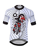 cheap -CAWANFLY Men's Short Sleeve Cycling Jersey White Bike Jersey Top Mountain Bike MTB Road Bike Cycling Quick Dry Sports Clothing Apparel / Stretchy