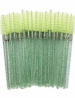 cheap -300 crystal shiny disposable mascara wand eyelash eyebrow brushes spooly applicator makeup kits (green)