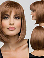 cheap -Synthetic Wig Straight With Bangs Wig Short Dark Brown Synthetic Hair Women's Fashionable Design Cute Classic Dark Brown
