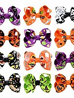 cheap -pet fashion dog hair clips pins halloween them pet grooming hair accessories hair bows for puppy (halloween theme clips)