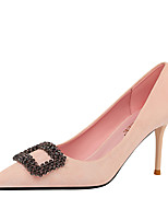cheap -Women's Heels Pumps Pointed Toe Sexy Party & Evening Rhinestone Solid Colored Suede Almond / Black / Yellow