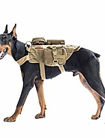 cheap -tactical dog molle vest harness training dog vest with detachable pouches (tan, x-large)