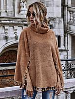 cheap -Women's Cloak / Capes Regular Solid Colored Daily Basic Khaki S M L