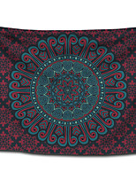 cheap -Wall Tapestry Art Decor Blanket Curtain Picnic Tablecloth Hanging Home Bedroom Living Room Dorm Decoration Polyester Bohemia Mandala Dark Red Colorful View