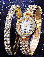 cheap -Women's Quartz Watches Quartz Formal Style Modern Style Luxury Chronograph Analog Blushing Pink Gold Silver / Imitation Diamond
